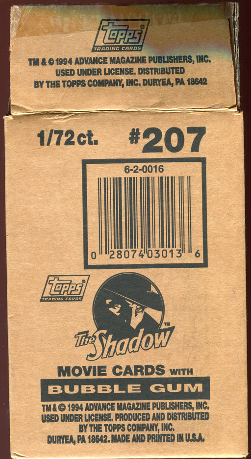 The Shadow Movie Deluxe Gold Series Vintage Card Box 72 Packs Topps 1994   - TvMovieCards.com