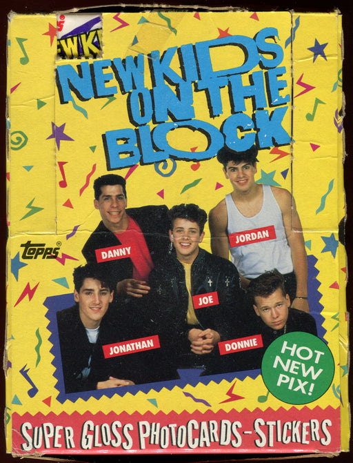 New Kids on the Block Series 1 Vintage Card Box 36 Packs Topps 1989   - TvMovieCards.com