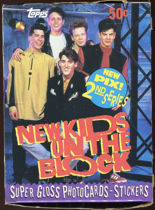 New Kids on the Block Series 2 Vintage Card Box 36 Packs Topps 1990   - TvMovieCards.com