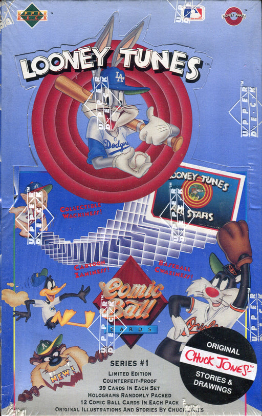 Looney Tunes Comic Ball Series 1 Vintage Card Box 36 Packs Upper Deck 1990   - TvMovieCards.com