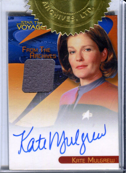 The Quotable Star Trek Voyager Kate Mulgrew Autograph Costume Card   - TvMovieCards.com