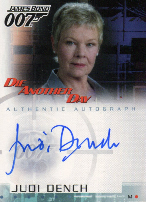 James Bond Die Another Day Judi Dench as M Autograph Card A2   - TvMovieCards.com