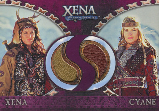 Xena Dangerous Liaisons Xena and Cyane Double Costume Card DC4   - TvMovieCards.com