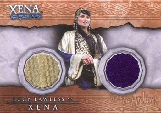 Xena Beauty and Brawn Lucy Lawless as Xena Double Costume Card DC8   - TvMovieCards.com