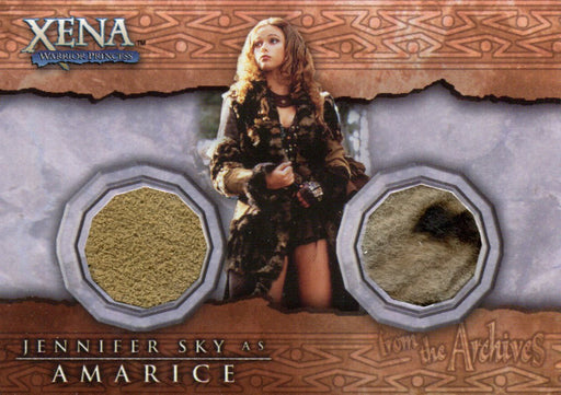 Xena Beauty and Brawn Jennifer Sky as Amarice Double Costume Card DC5   - TvMovieCards.com