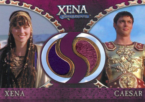Xena Dangerous Liaisons Xena and Caesar Double Costume Card DC2   - TvMovieCards.com