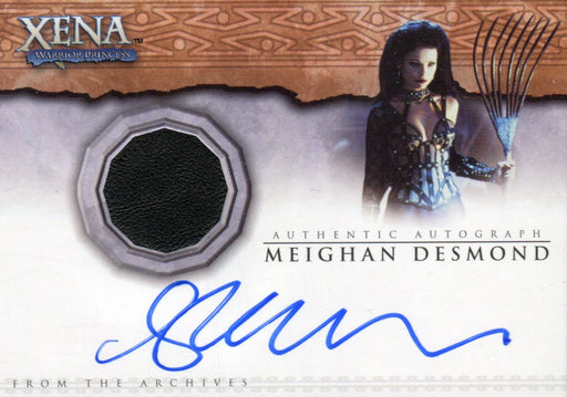 Xena Beauty and Brawn Meighan Desmond Autograph Costume Card AC3   - TvMovieCards.com