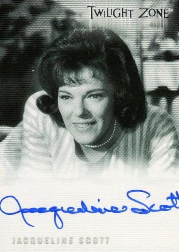Twilight Zone 3 Shadows and Substance Jacqueline Scott Autograph Card A-61 Front