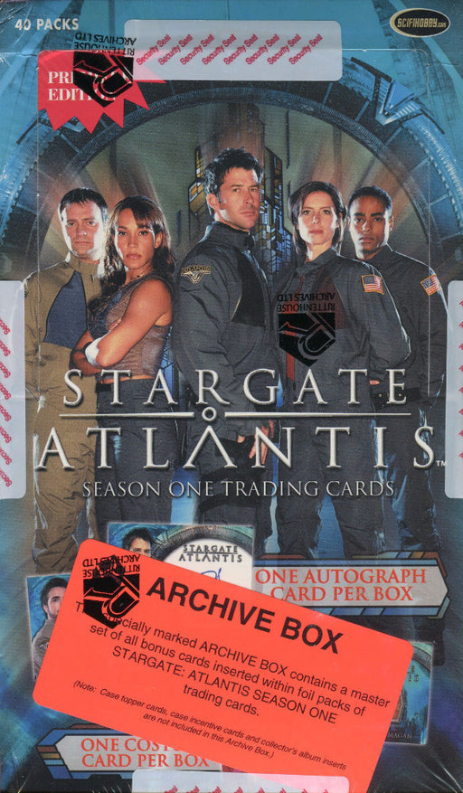 Stargate Atlantis Season One Archive Card Box   - TvMovieCards.com