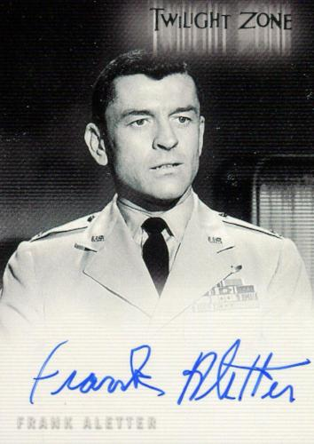 Twilight Zone 3 Shadows and Substance Frank Aletter Autograph Card A-64   - TvMovieCards.com
