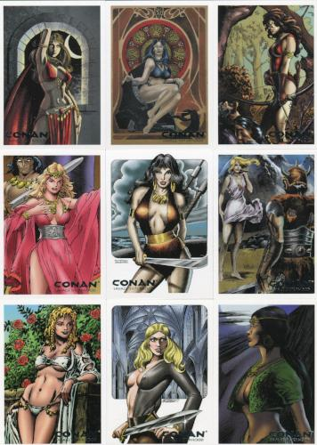Conan Art of the Hyborian Age Savage Sisterhood Chase Card Set S1 thru S9   - TvMovieCards.com