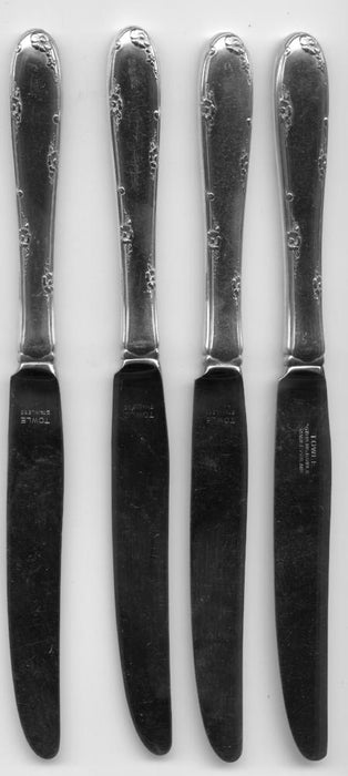 4 Madeira Knives by Towle Sterling Silver Handle 9 Inch French Blade Knife   - TvMovieCards.com