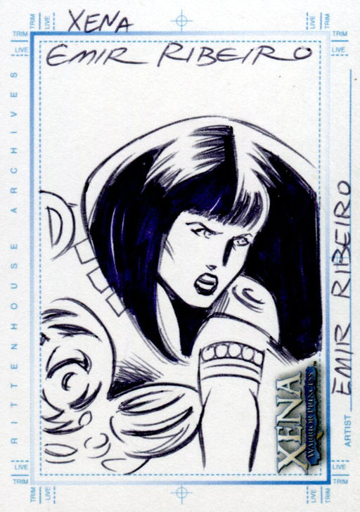 Xena Art & Images Sketch Card by Emir Ribeiro Xena #3   - TvMovieCards.com