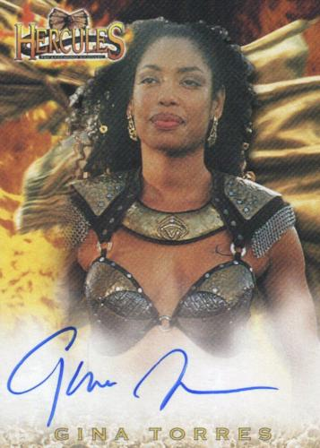 Hercules The Complete Journeys Gina Torres as Nebula Autograph Card A16   - TvMovieCards.com