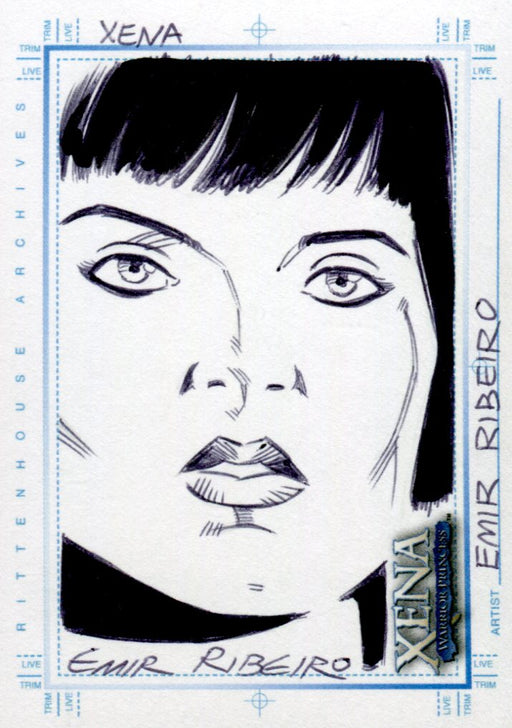 Xena Art & Images Sketch Card by Emir Ribeiro Xena #2   - TvMovieCards.com
