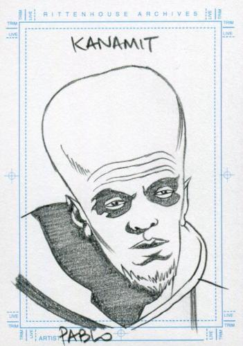 Twilight Zone 4 Shadows and Substance Pablo Raimondi Artist Sketch Card Kanamit Front