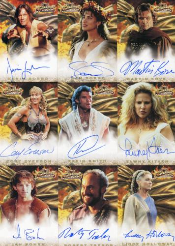 Hercules The Complete Journeys Autograph Card Set 18 Cards   - TvMovieCards.com