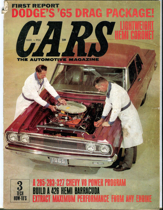 March 1965 Hi-Performance Cars Automotive Magazine - Dodge's '65 Drag Package   - TvMovieCards.com