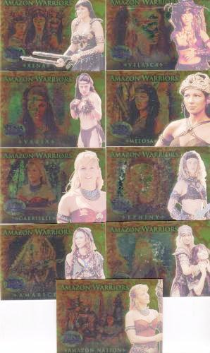 Xena Beauty and Brawn Amazon Warriors Chase Card Set AW1 -AW9   - TvMovieCards.com