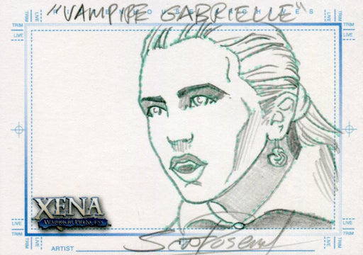 Xena Art & Images Sketch Card by Scott Rosema Vampire Gabrielle   - TvMovieCards.com
