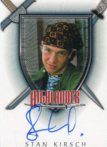 Highlander Complete Stan Kirsch as Richie Ryan Autograph Card A3   - TvMovieCards.com
