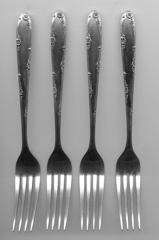 4 Madeira Forks by Towle Sterling Silver 7-1/2 Inch   - TvMovieCards.com