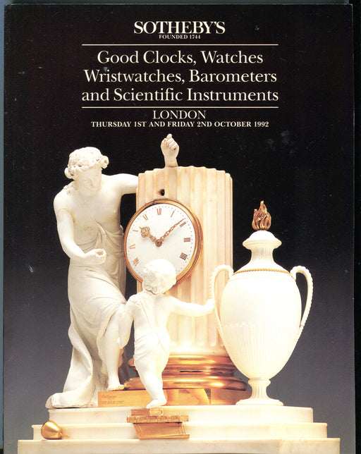 Sothebys Auction Catalog Oct 1 1992 Good Clocks, Watches, Scientific Instruments   - TvMovieCards.com