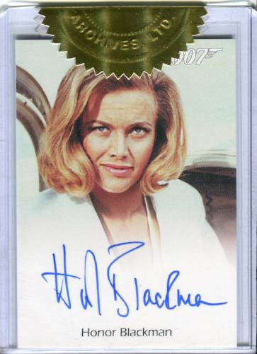 James Bond 50th Anniversary Series One Honor Blackman Incentive Autograph Card   - TvMovieCards.com