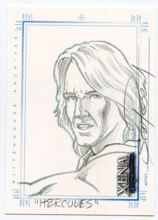 Xena Art & Images Sketch Card by Scott Rosema Hercules   - TvMovieCards.com