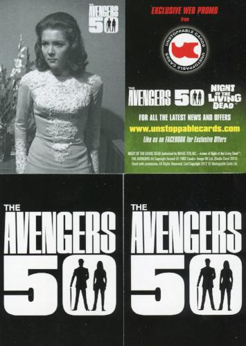 Avengers TV 50th Anniversary Promo Card Lot 4 Cards   - TvMovieCards.com