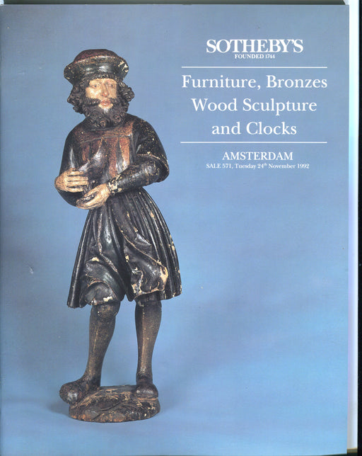 Sothebys Auction Catalog Nov 24 1992 Furniture, Bronzes, Wood Sculpture, Clocks   - TvMovieCards.com