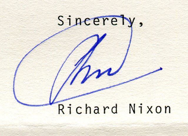Original Signature Letter President Richard Nixon July 22, 1982   - TvMovieCards.com