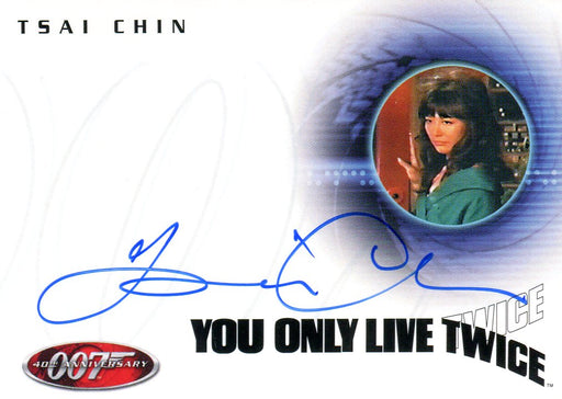 James Bond 40th Anniversary Tsai Chin Autograph Card A5   - TvMovieCards.com