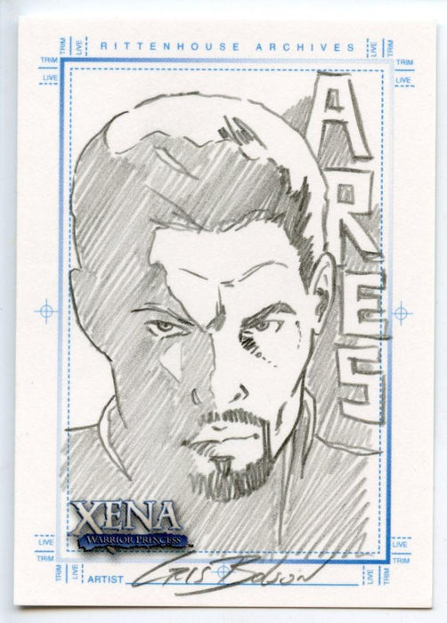 Xena Art & Images Sketch Card by Cris Bolson Ares   - TvMovieCards.com