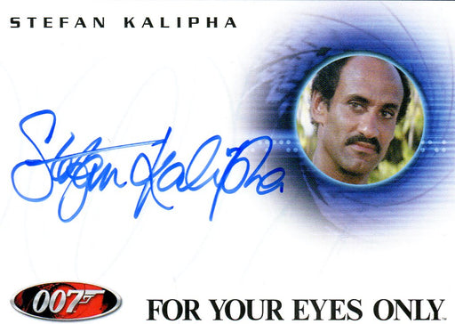 James Bond 2009 Archives Stefan Kalipha Autograph Card A91   - TvMovieCards.com