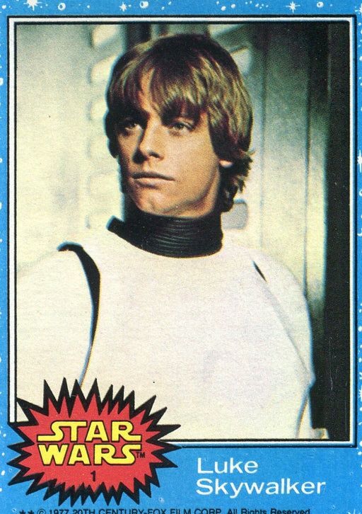 Star Wars Series 1 Blue 1977 Vintage Card Set Cards #1-#66 Topps   - TvMovieCards.com