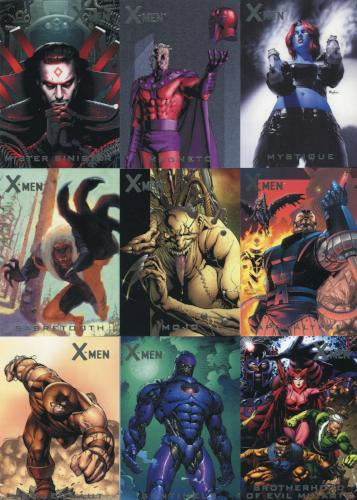 X-Men Archives Nemesis Chase Card Set N1 thru N9   - TvMovieCards.com