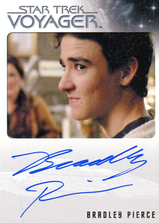 Star Trek Voyager Heroes Villains Autograph Bradley Pierce as Jason Janeway   - TvMovieCards.com