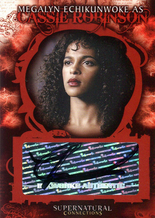Supernatural Connections Megalyn Echikunwoke Cassie Robinson Autograph Card A-5   - TvMovieCards.com