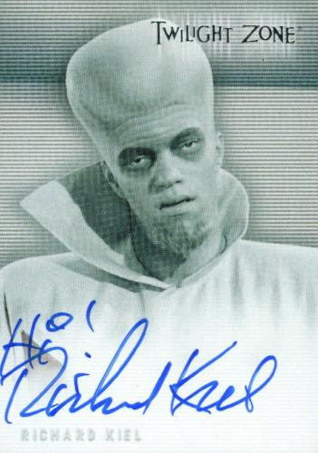 Twilight Zone Premiere Edition Richard Kiel Autograph Card A-3 (#1)   - TvMovieCards.com