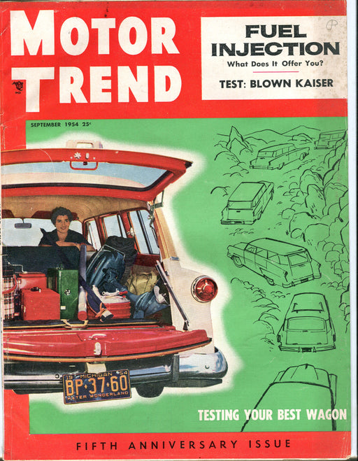 Sept 1954 Motor Trend Car Magazine - Testing Your Best Station Wagon   - TvMovieCards.com