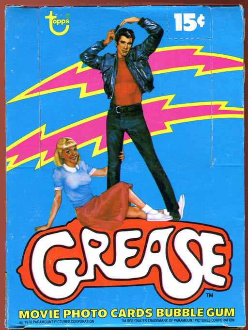 Grease Movie Series One Vintage Card Box 36 Sealed Packs Topps 1978   - TvMovieCards.com