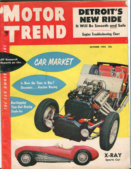 October 1954 Motor Trend Car Magazine - X-Ray Sports Car   - TvMovieCards.com