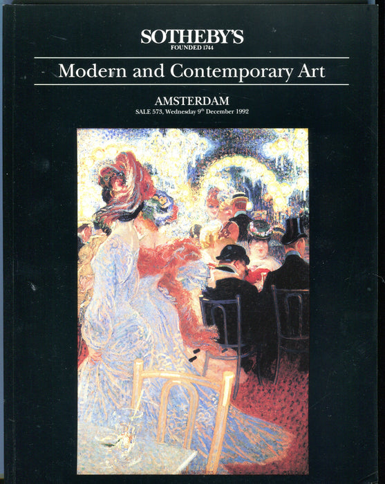 Sothebys Auction Catalog Dec 9 1992 Modern and Contemporary Art   - TvMovieCards.com
