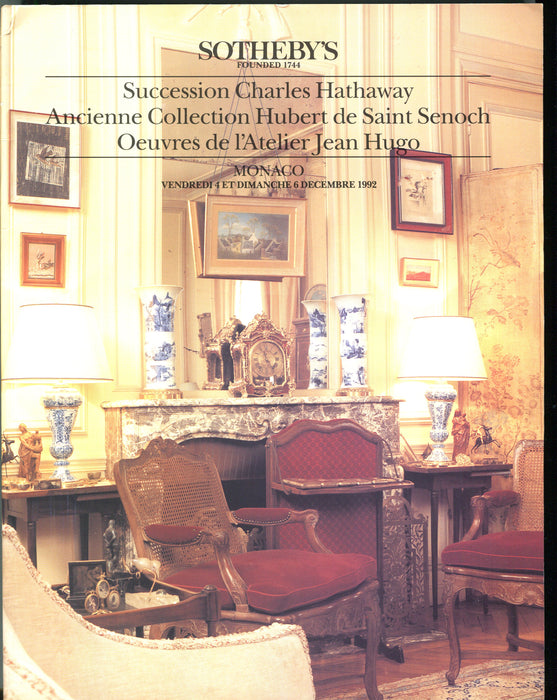 Sothebys Auction Catalog Monaco Dec 6 Succession Charles Hathaway Collection   - TvMovieCards.com