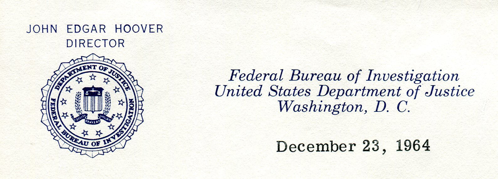 Original Signature Letter J. Edgar Hoover FBI Director December 23,   - TvMovieCards.com
