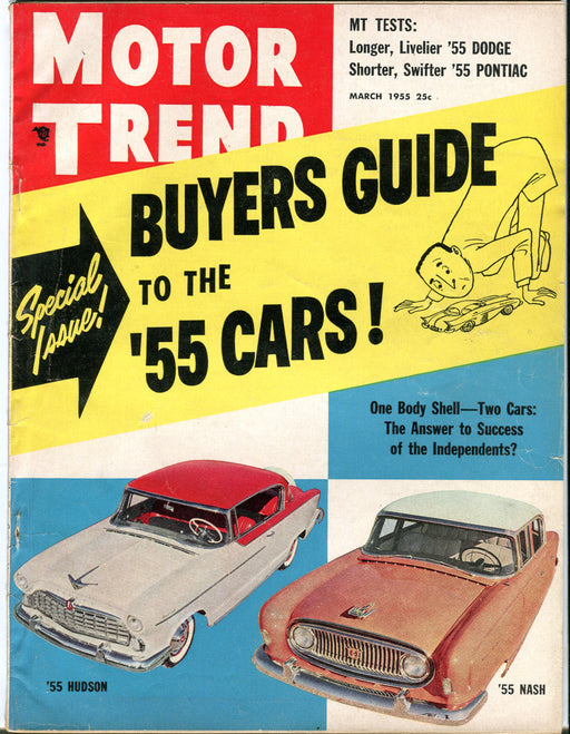 March 1955 Motor Trend Car Magazine - Buyers Guide to the '55 Cars!   - TvMovieCards.com
