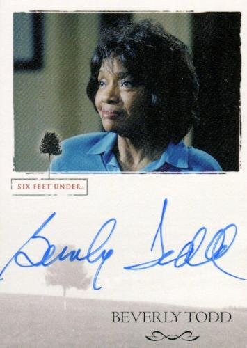 Six Feet Under Seasons 1 & 2 Beverly Todd as Lucille Charles Autograph Card   - TvMovieCards.com