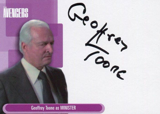 Avengers TV Definitive 1 Geoffrey Toone as Minister Binder Autograph Card A12   - TvMovieCards.com