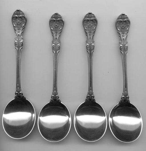 4 King Edward Cream Soup Spoon by Gorham Sterling Silver 6-1/4 Inch   - TvMovieCards.com